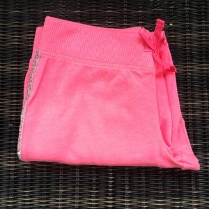 NWOT SO pink sequin girls joggers